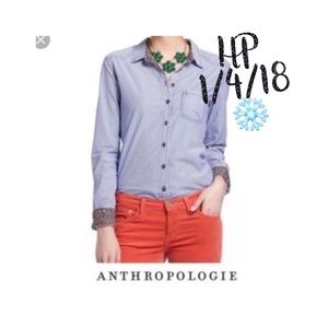Anthro Meadow Rue striped button down 6